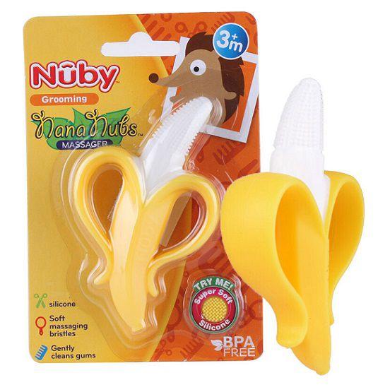 Escova e mordedor banana - Nûby  - Kaiuru Kids