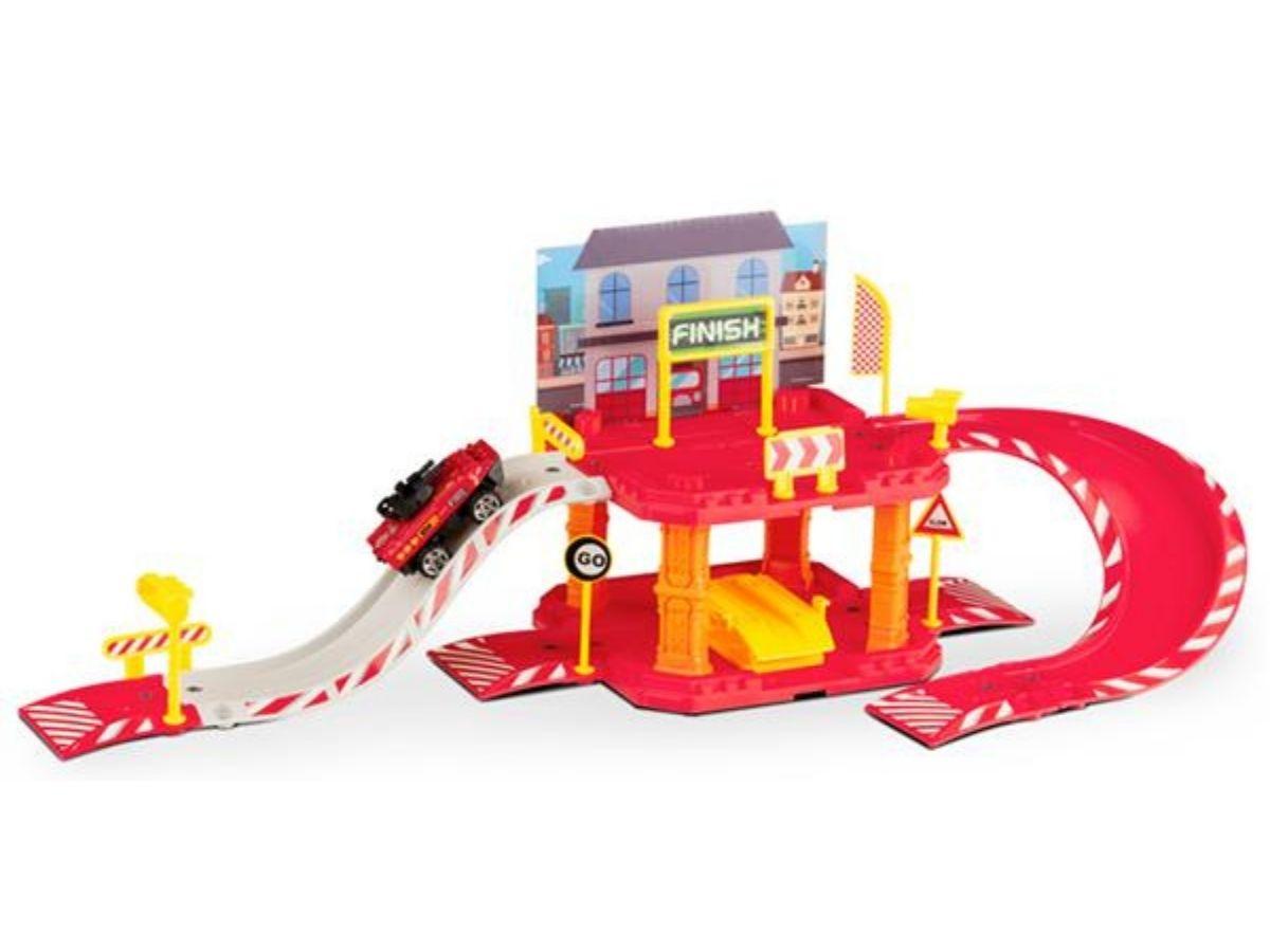 Express wheels garagem bombeiro 40 peças 5+ anos - Multikids  - Kaiuru Kids
