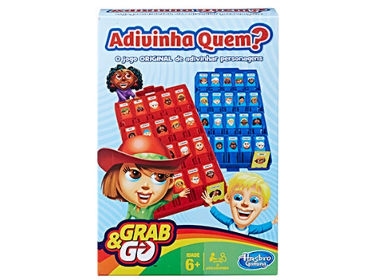 Jogo Adivinha Quem? Grab & Go 6+ anos - Hasbro  - Kaiuru Kids