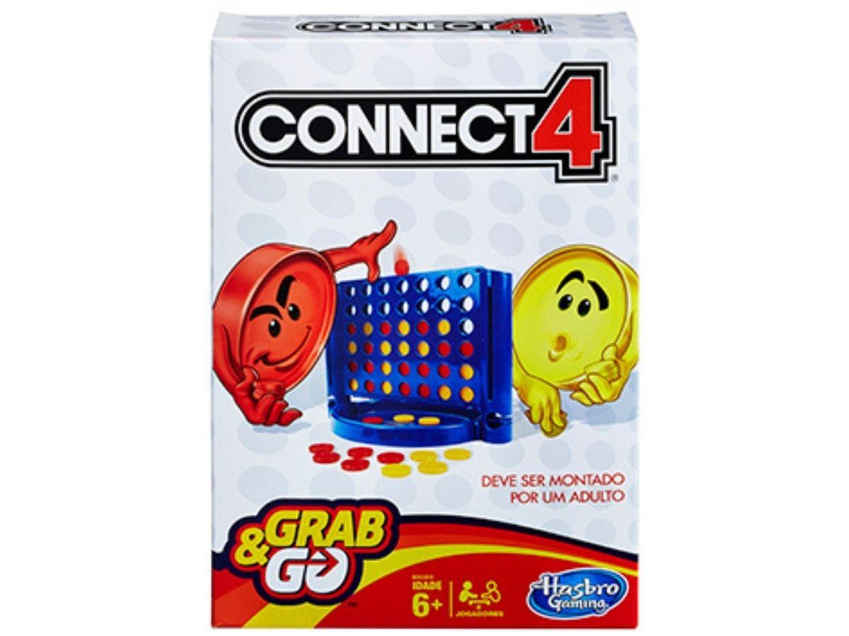 Jogo Connect 4 Grab & Go 6+ anos - Hasbro  - Kaiuru Kids