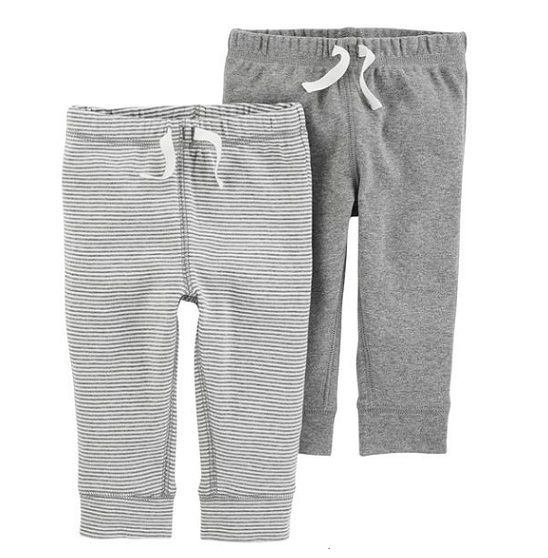 Kit 2 calças de malha cinza - Carter
