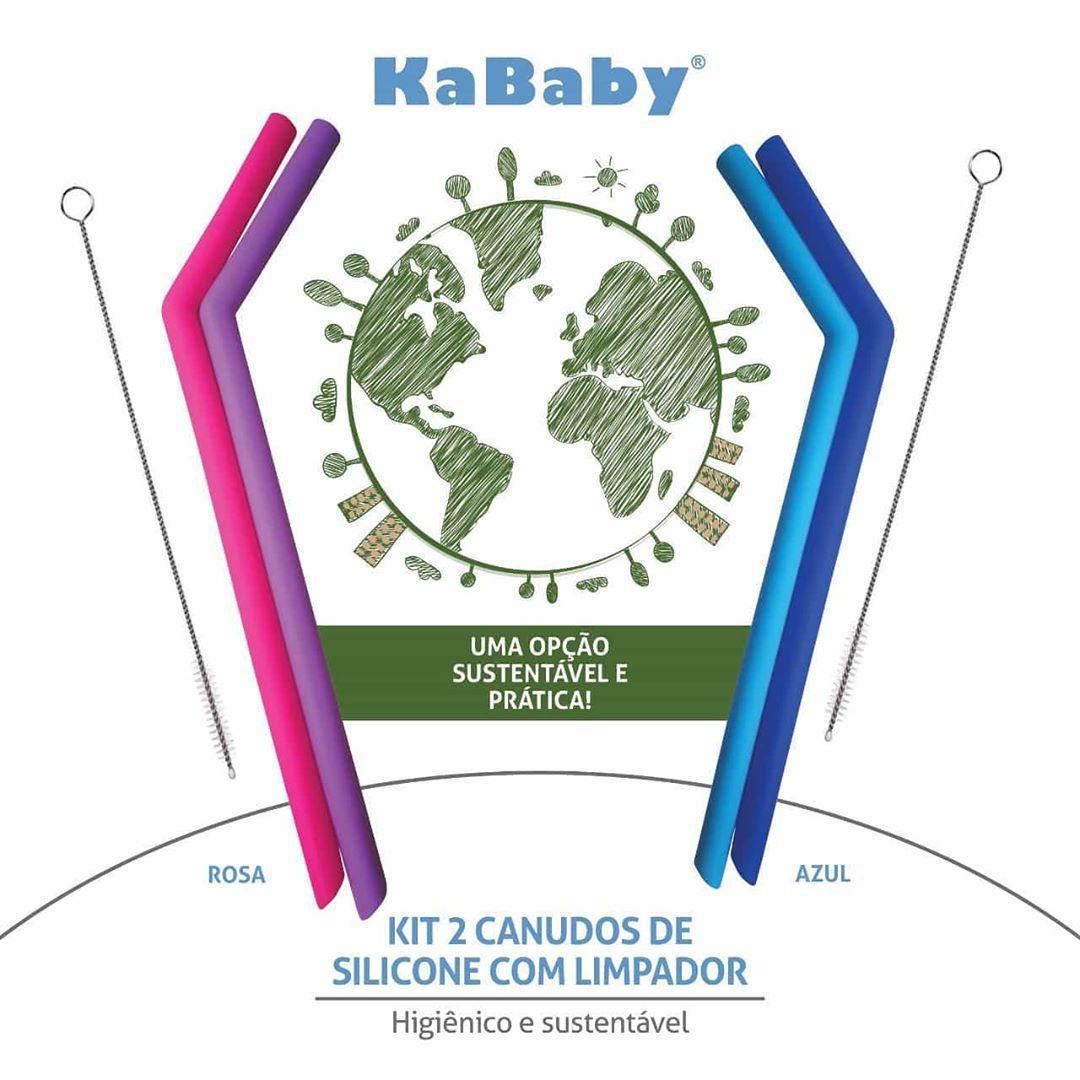 Kit 2 Canudos de Silicone com Limpador - KaBaby  - Kaiuru Kids