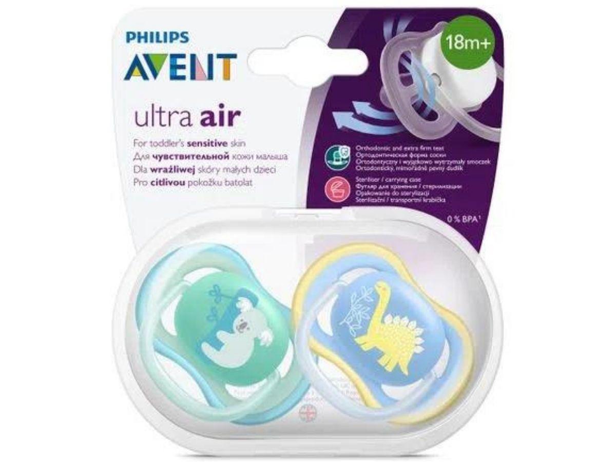 Kit 2 chupetas Ultra Air decoradas 18M+ Avent  - Kaiuru Kids