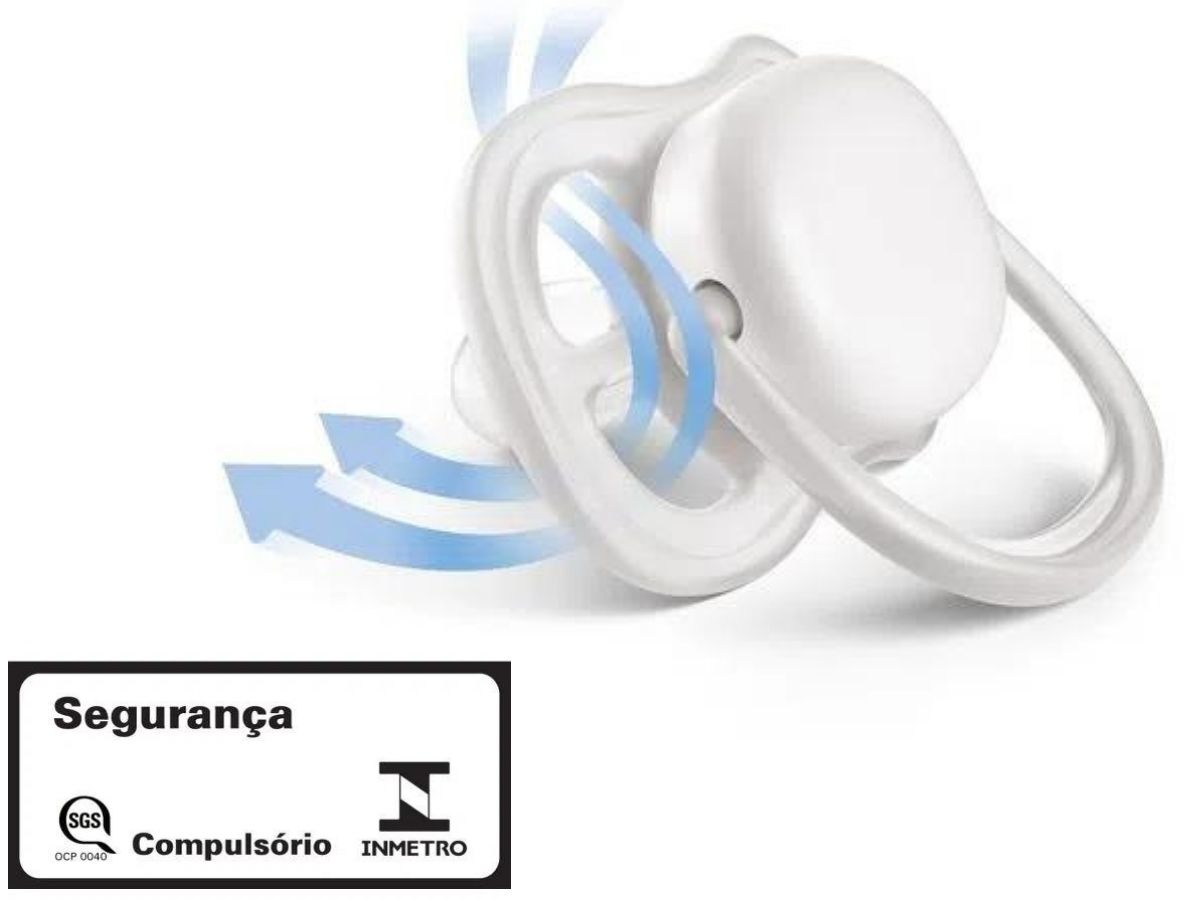 Kit 2 chupetas Ultra Air lisas 0-6M - Avent  - Kaiuru Kids