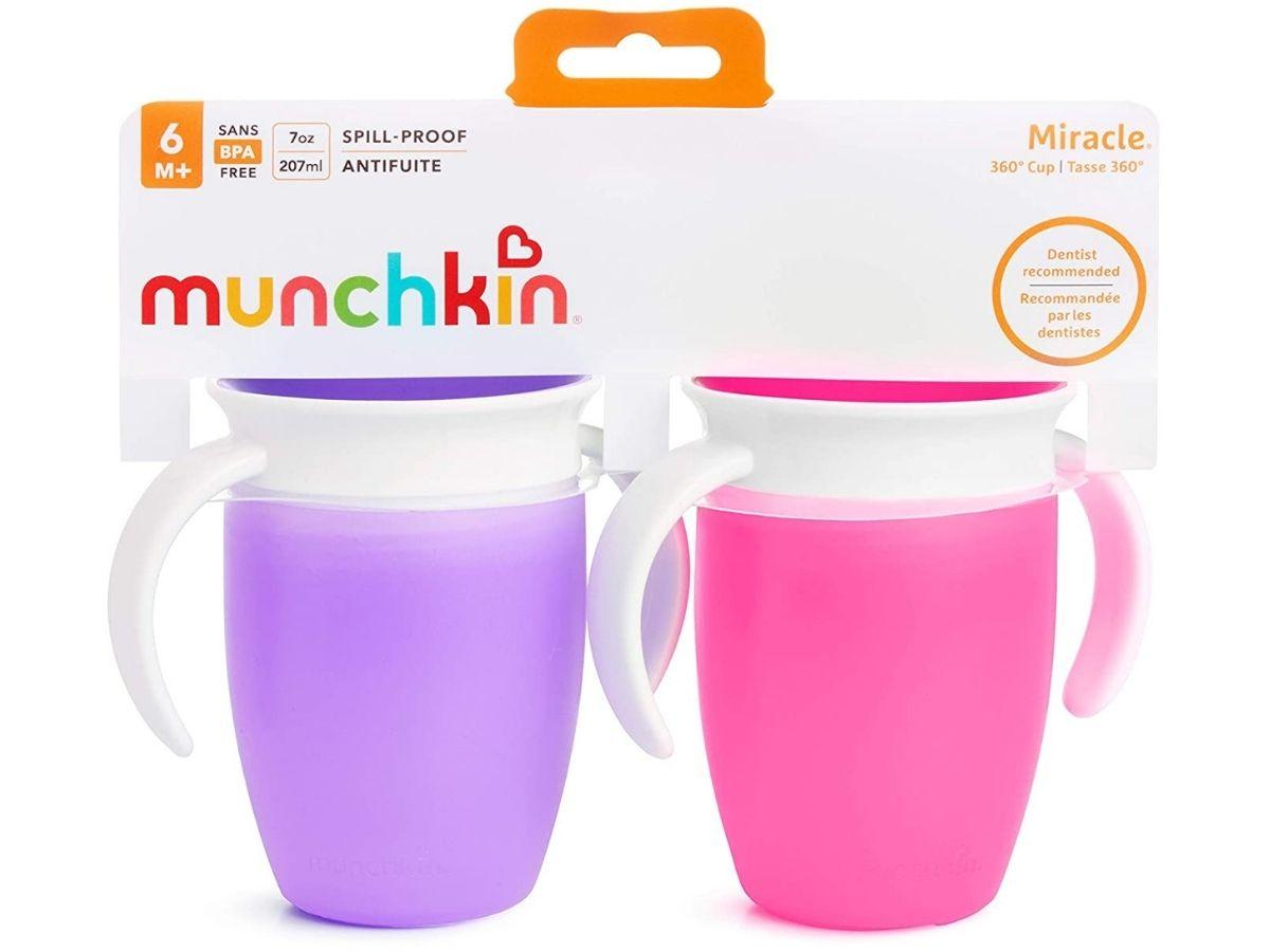 Kit 2 copos de treinamento Miracle 360 com alças 207ml (6M+) Munchkin  - Kaiuru Kids
