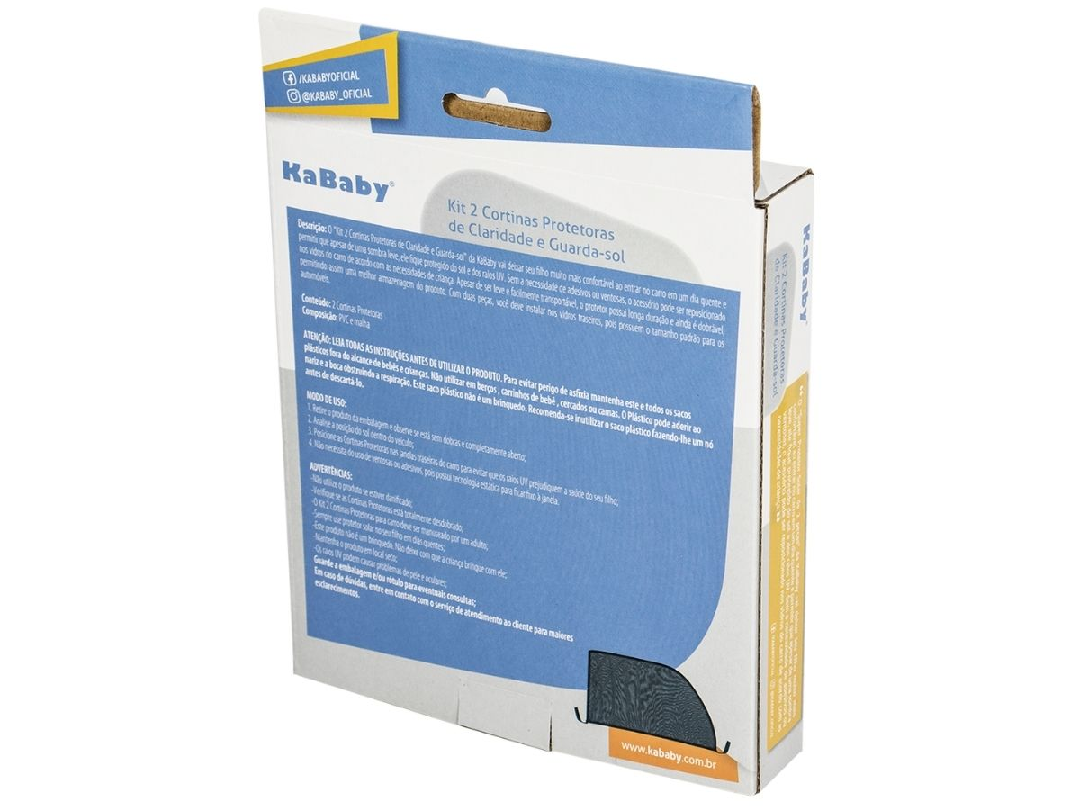 Kit 2 Cortinas Protetoras Anticlaridade - KaBaby  - Kaiuru Kids