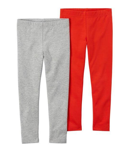 Kit 2 leggings cinza e vermelha - Carters  - Kaiuru Kids