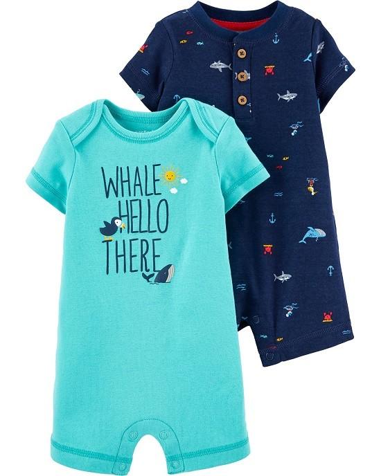Kit 2 macaquinhos baleias e tubarões - Carters  - Kaiuru Kids