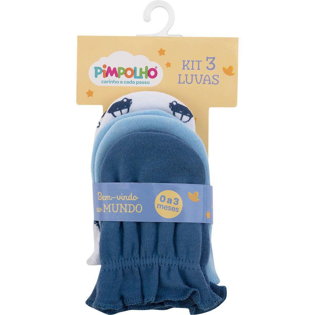 Kit 3 luvas recém nascido carrinhos - Pimpolho  - Kaiuru Kids