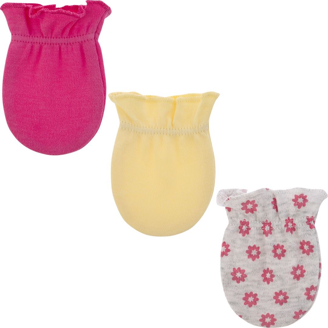 Kit 3 luvas recém nascido flores - Pimpolho  - Kaiuru Kids
