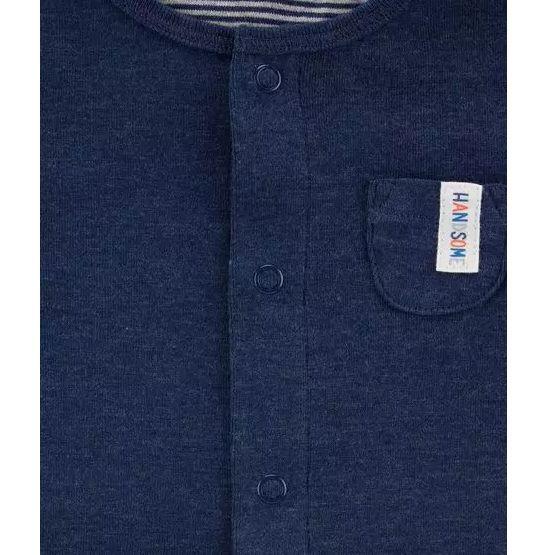 Kit 3 peças com casaco azul marinho - Carter