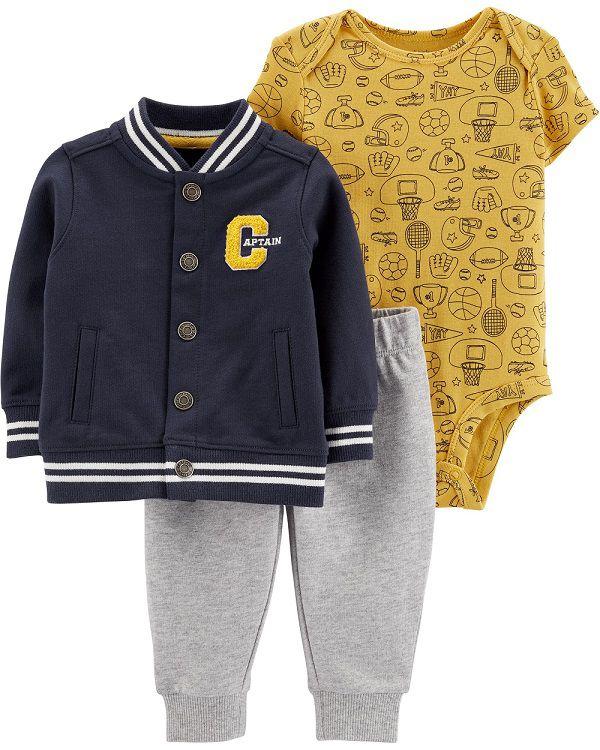 Kit 3 peças com jaqueta Captain - Carters  - Kaiuru Kids