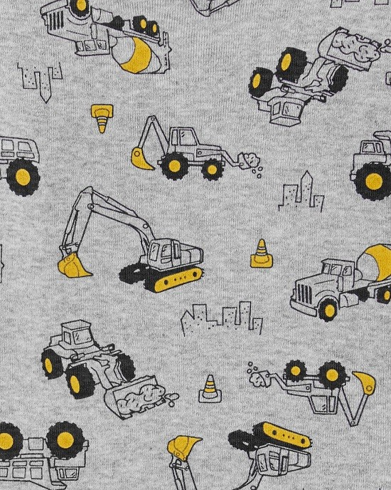 Kit 3 peças com short cinza construtor - Carters  - Kaiuru Kids