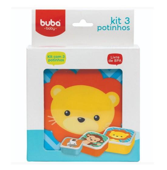 Kit 3 potinhos animais - Buba  - Kaiuru Kids