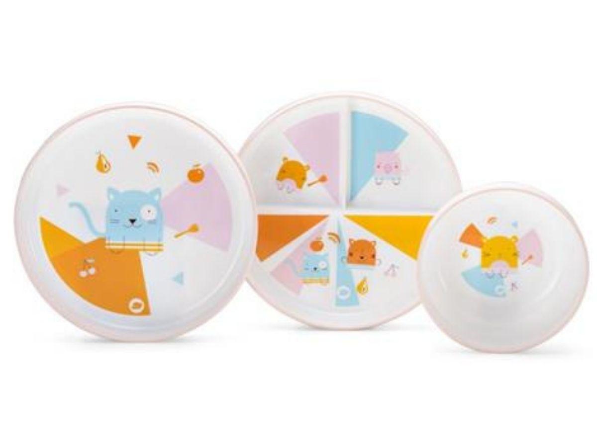 Kit 3 pratinhos Nhac Nhac! Pet buddies - Multikids Baby  - Kaiuru Kids