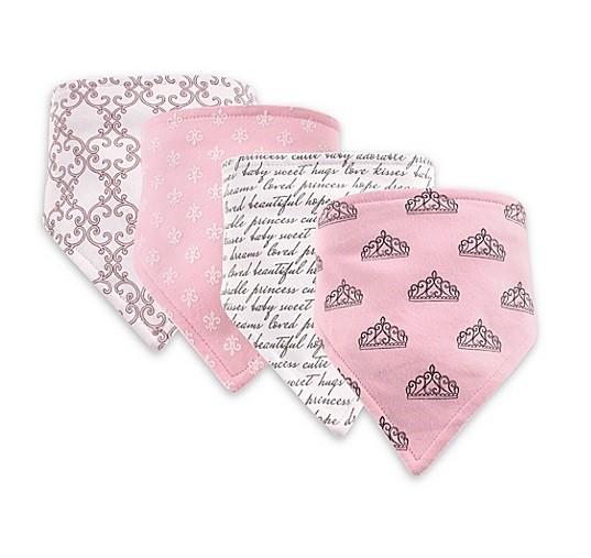 Kit 4 babadores bandana rosa - Hudson Baby  - Kaiuru Kids