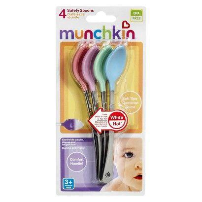 Kit 4 colheres de segurança White Hot® - Munchkin  - Kaiuru Kids