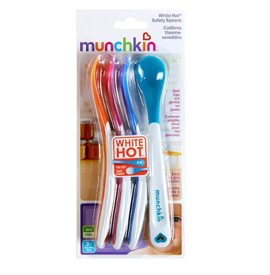 kit 4 colheres termo sensíveis White Hot® - Munchkin  - Kaiuru Kids