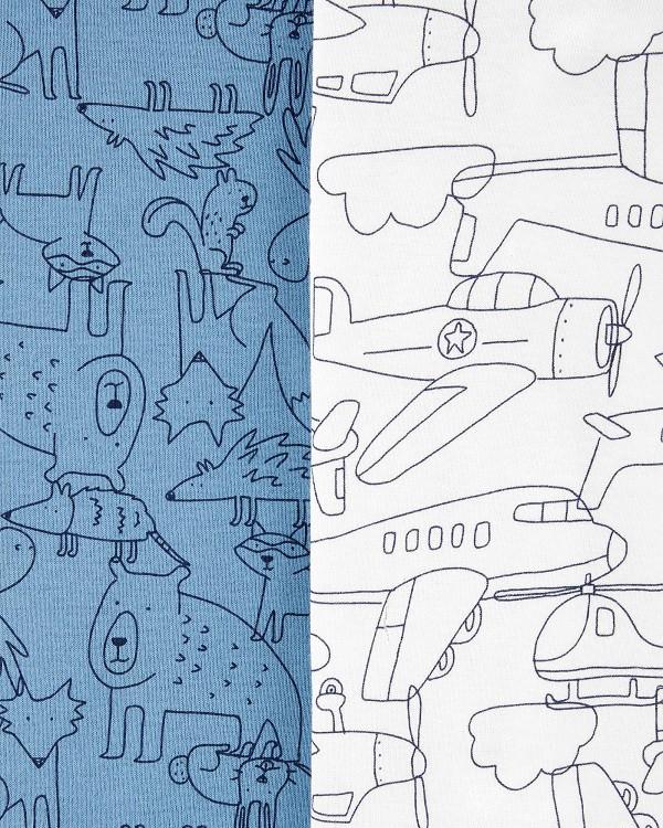 Kit 5 bodies manga curta airplane - Carters  - Kaiuru Kids