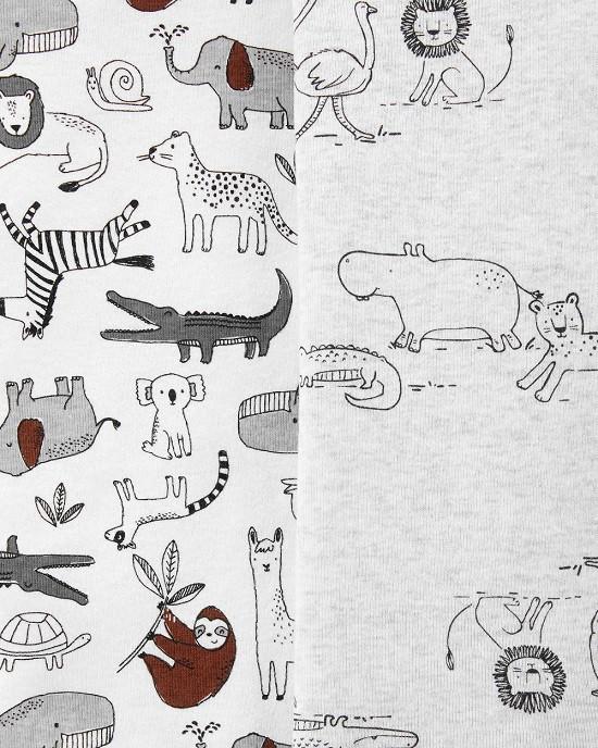 Kit 5 bodies manga curta animais - Carters  - Kaiuru Kids