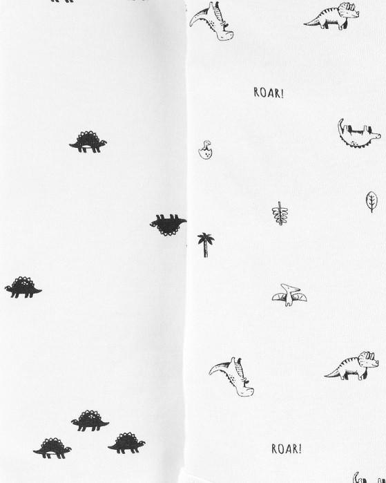 Kit 5 bodies manga curta dinossauros - Carters  - Kaiuru Kids