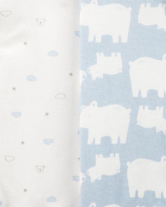 Kit 6 bodies manga longa urso polar - Carter