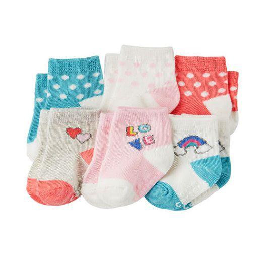 Kit 6 meias coloridas - Carter