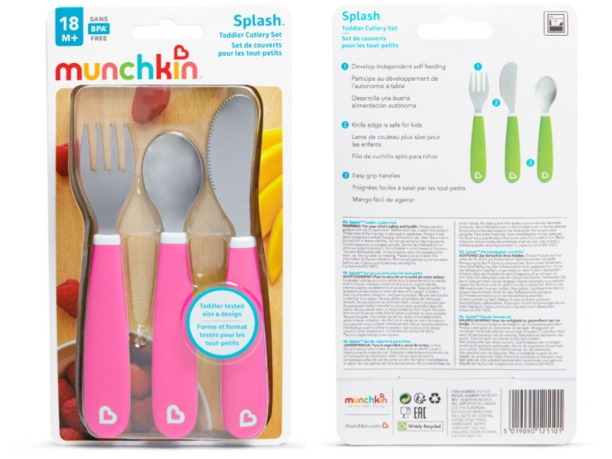 Kit de talheres infantil Splash 18M+ Munchkin  - Kaiuru Kids