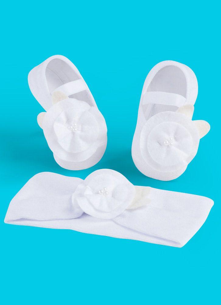 4d9ff09d9 Kit faixa de cabelo + meia sapatilha branco - Puket - Roupas e ...