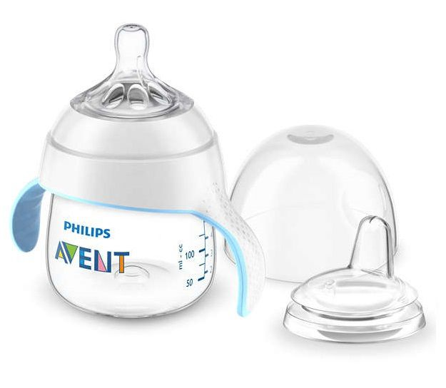 Kit mamadeira e copo de treinamento branco - Avent  - Kaiuru Kids
