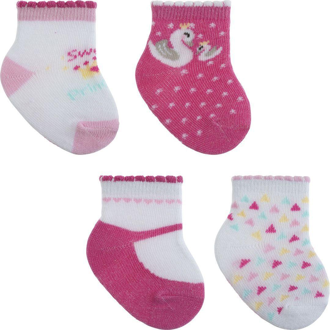 Kit meia presente com 4 pares menina 00-15 - Pimpolho  - Kaiuru Kids