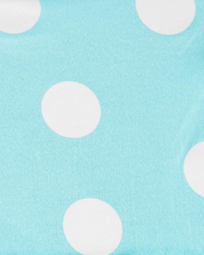 Kit vestido azul bolas e macaquinho regata floral - Carters  - Kaiuru Kids