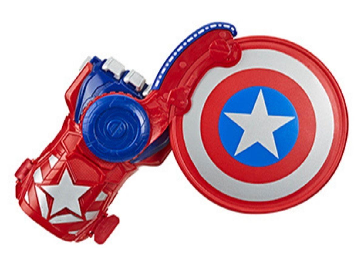 Lançador Power Moves Capitão América 5+ anos - Hasbro  - Kaiuru Kids