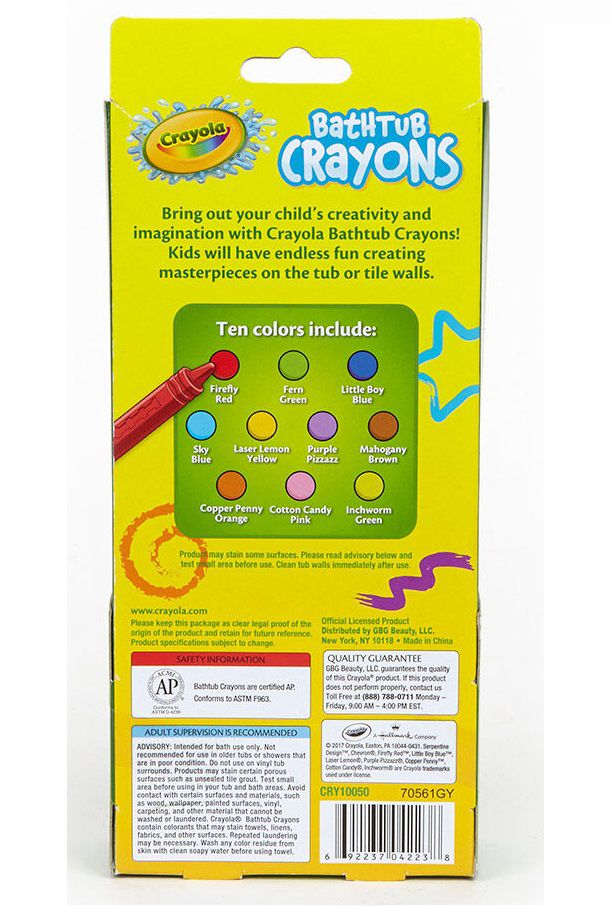 Lápis de banho lavável - Crayola  - Kaiuru Kids