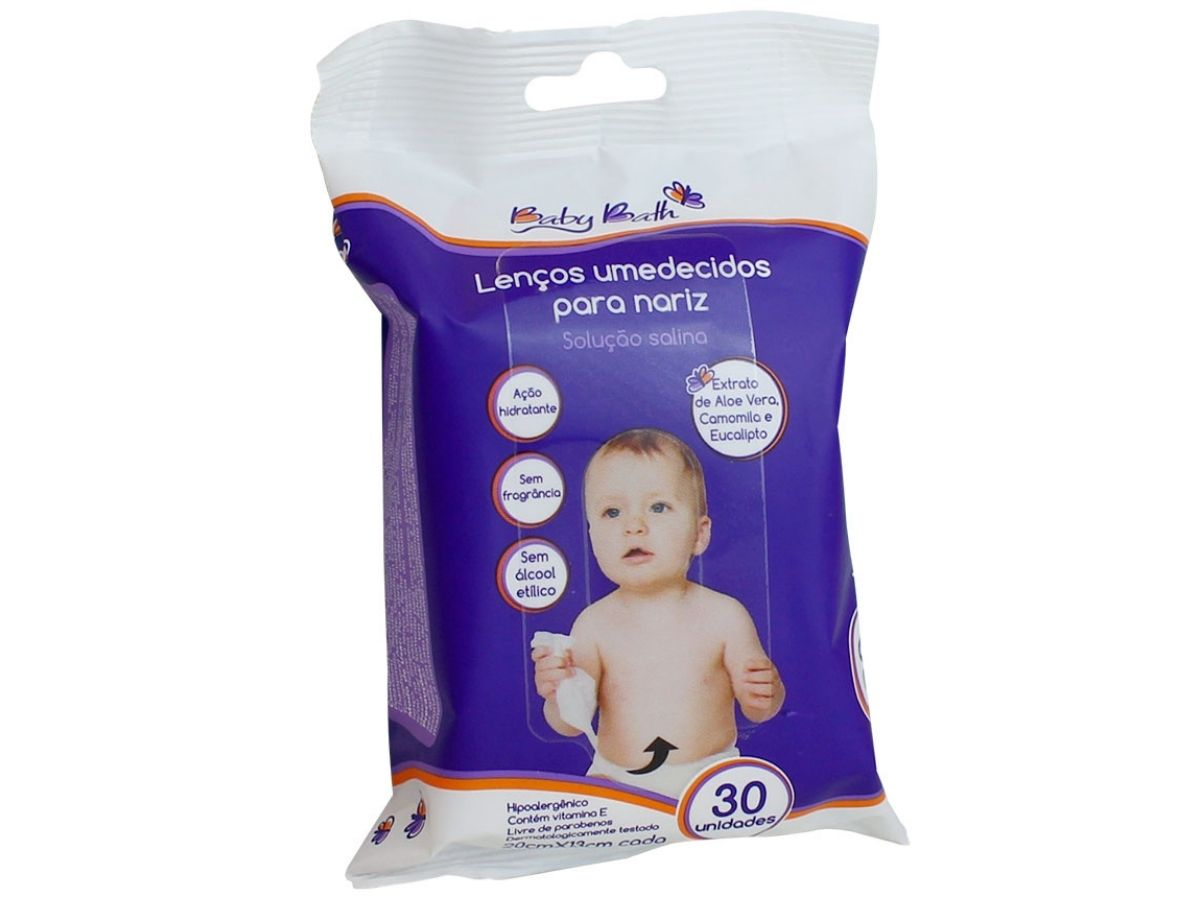 Lenços umedecidos para nariz - Baby Bath  - Kaiuru Kids