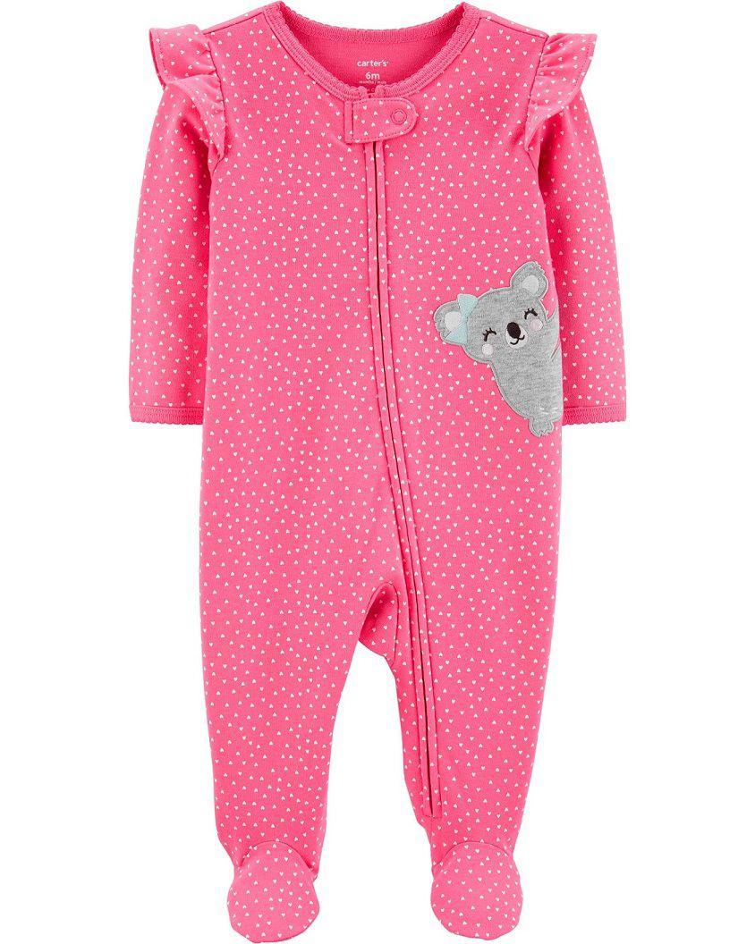 Macacão de malha rosa coala - Carters  - Kaiuru Kids