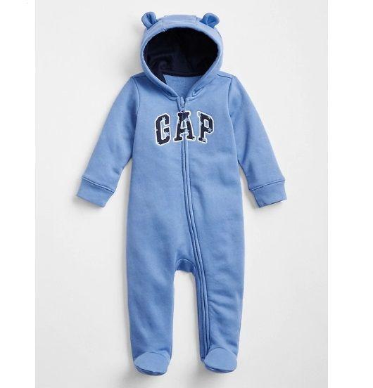 Macacão de moletom azul star com capuz - GAP  - Kaiuru Kids