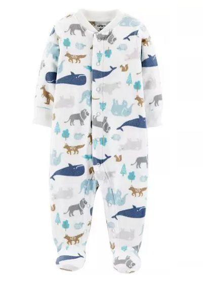 Macacão de plush azul animais - Carter