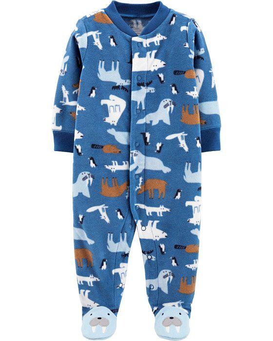 Macacão de plush azul morsa - Carters  - Kaiuru Kids