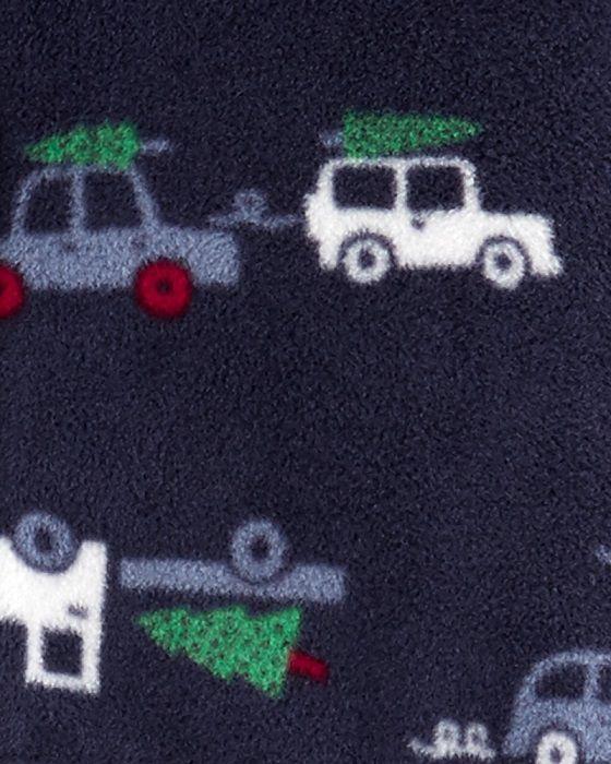 Macacão de plush com capuz azul carros - Carters  - Kaiuru Kids