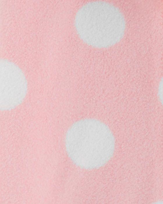 Macacão de plush com capuz rosa poás - Carters  - Kaiuru Kids