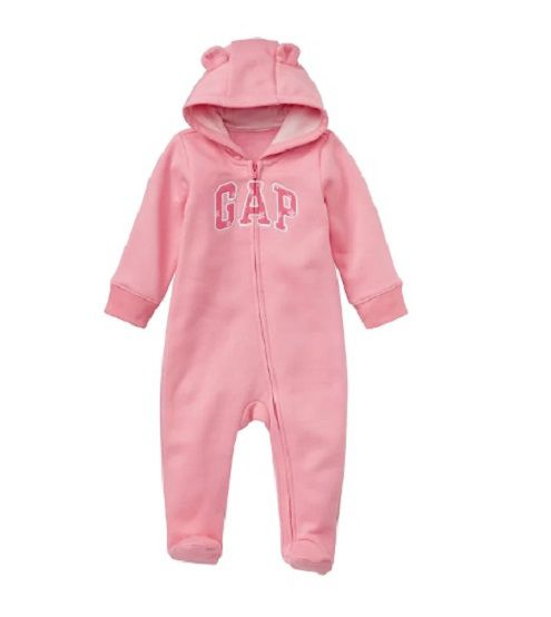Macacão rosa estrelas com capuz - GAP  - Kaiuru Kids