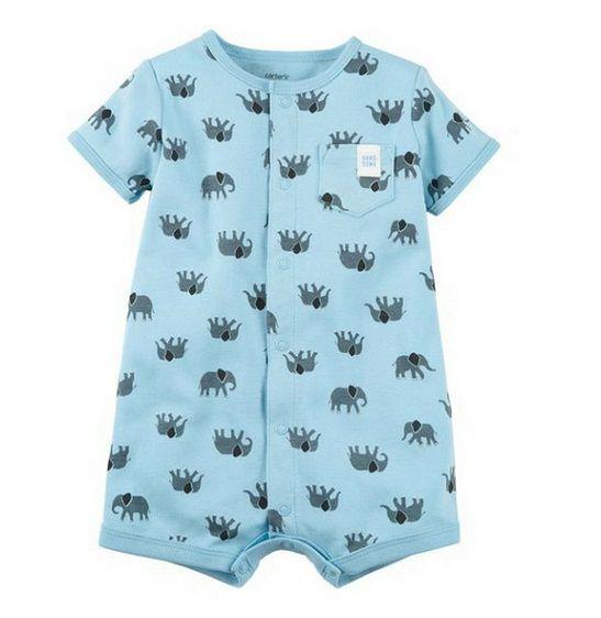 Macaquinho azul elefantes - Carters  - Kaiuru Kids