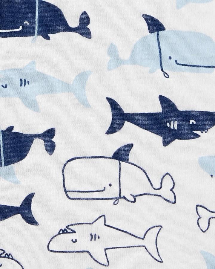 Macaquinho branco e azul marinho baleias - Carters  - Kaiuru Kids