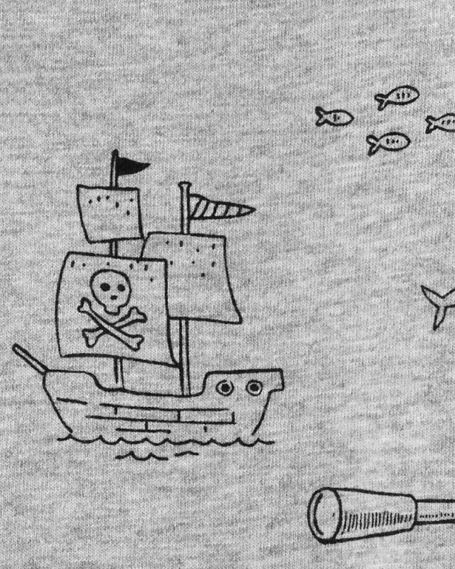 Macaquinho cinza pirata com capuz - Carters  - Kaiuru Kids