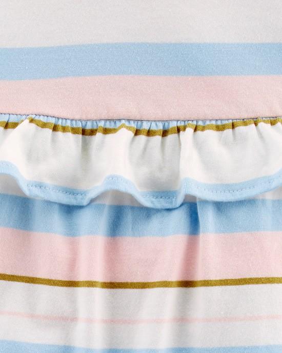 Macaquinho regata listrado azul e rosa - Carters  - Kaiuru Kids