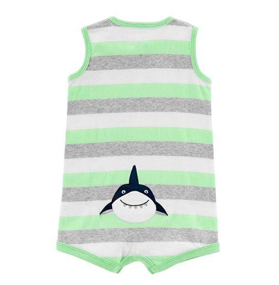 Macaquinho regata listrado tubarão - Carters  - Kaiuru Kids