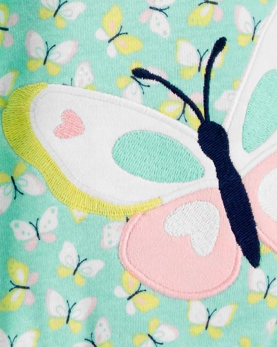 Macaquinho verde borboletas - Carters  - Kaiuru Kids