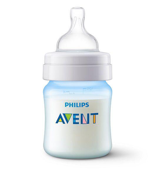 Mamadeira Anti-colic clássica azul 125 ml (0m+) - Avent  - Kaiuru Kids