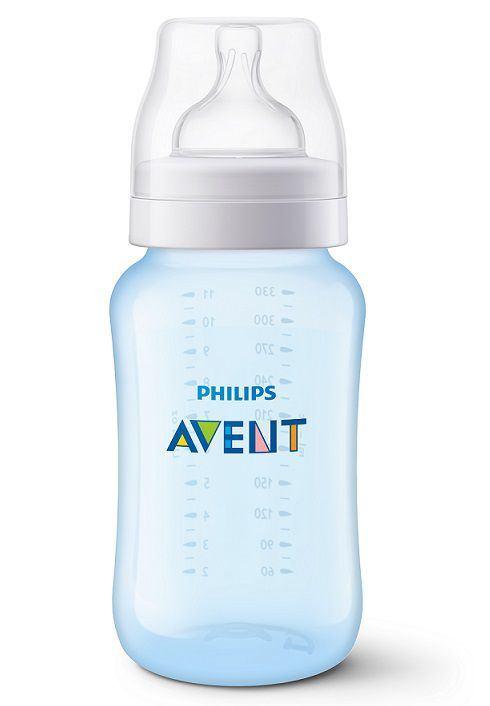 Mamadeira Anti-colic clássica azul 330 ml (3m+) - Avent  - Kaiuru Kids